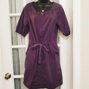 Loft Drawstring Charcoal Dress